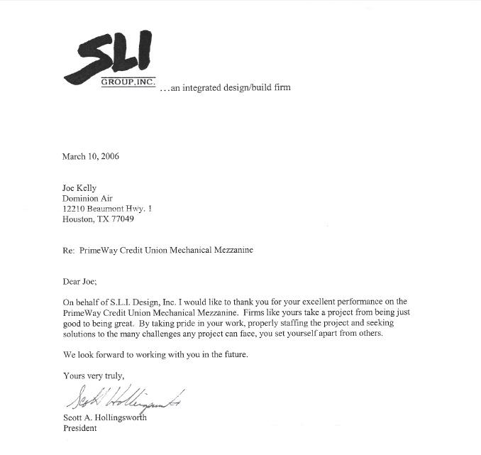 S.L.I. Design Testimony